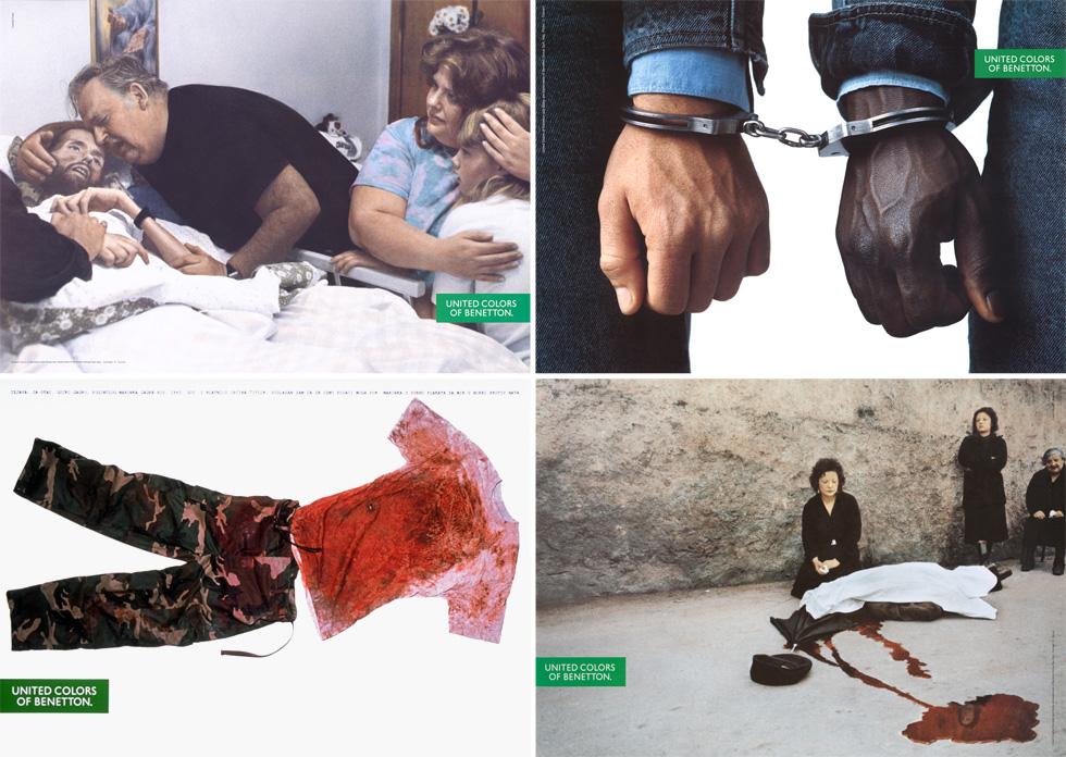 """""""מדוע פרובוקציה היא מילה רעה? מהי אם כך המשימה של אמנות, תקשורת וחינוך? לעורר הבנה טובה יותר, איכות חיים טובה יותר וחברה טובה יותר"""" (צילום: Oliviero Toscani, Franco Zecchini/Magnum, Thérèse Frare)"""