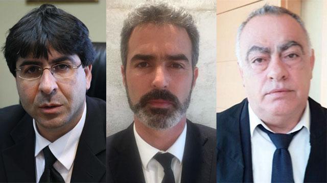 עורכי הדין ירון בן גיגי, אורי בר עוז ואדי אבינועם