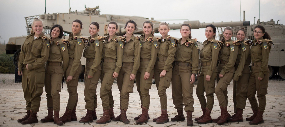 IDF's first female tank operators (Photo: IDF)