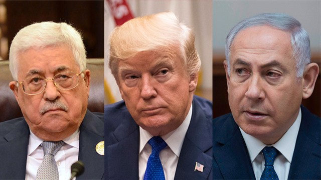 Abbas, Trump and Netanyahu (Photo: AFP, EPA)