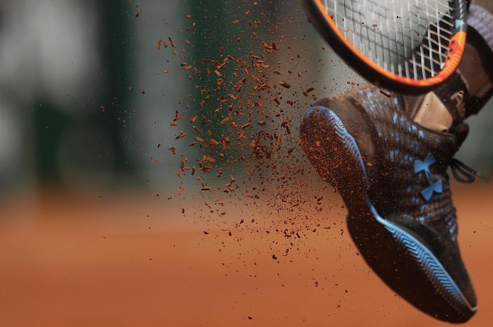 הטניסאי אנדי מארי על מגרש החימר באליפות צרפת הפתוחה (צילום: AP) (צילום: AP)