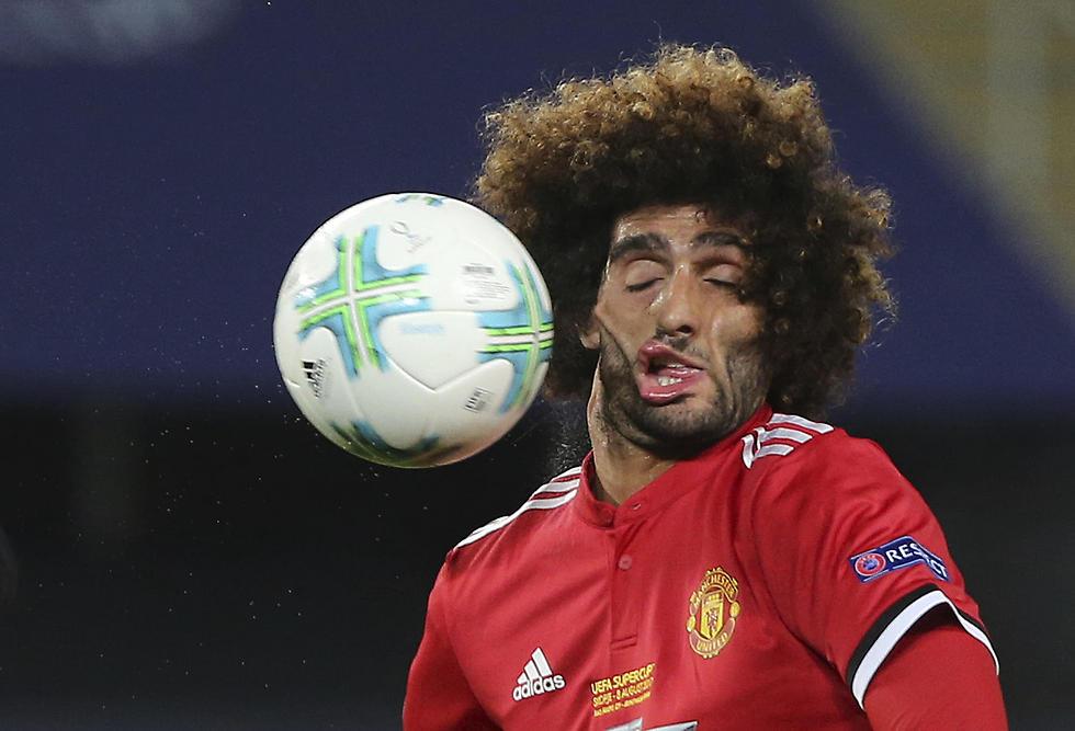 כדורגלן מנצ'סטר יונייטד מרוואן פלאיני במשחק הסופר קאפ האירופי מול ריאל מדריד (צילום: AP) (צילום: AP)