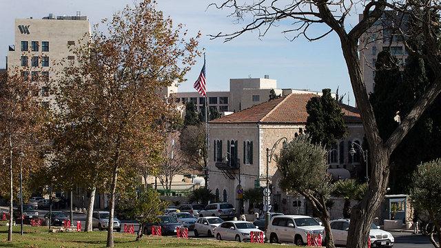 Existing US consular building in West Jerusalem  (Photo: Amit Shabi)
