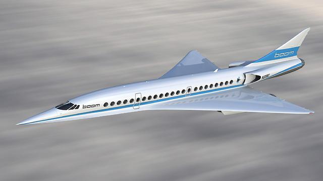 כך זה צפוי להיראות. איור של המטוס שעדיין בשלבי בנייה (REUTERS/Boom Supersonic ) (REUTERS/Boom Supersonic )