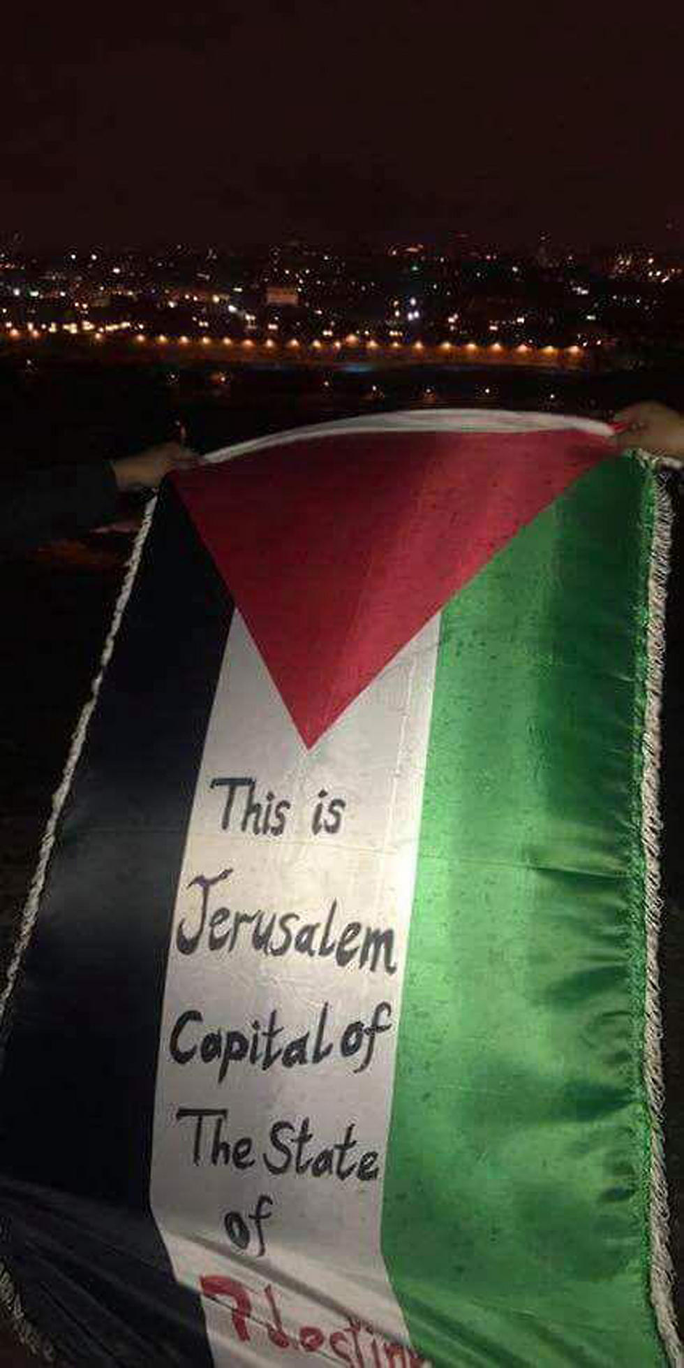 The first signs of protest started showing in Jerusalem