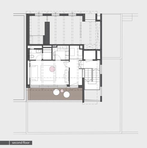 קומת הגג (תכנית: אדריכלית מירב גלן ואדריכל שי פוגל)