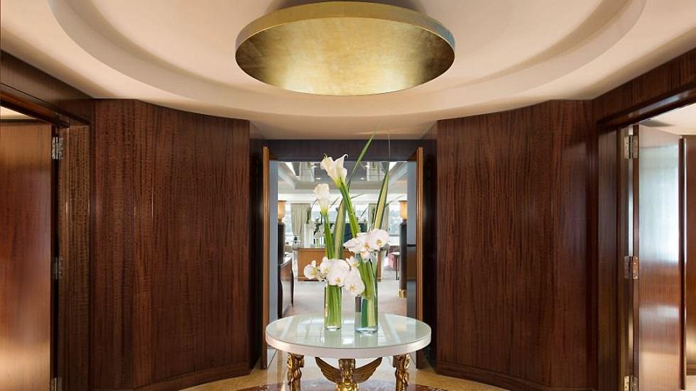 אזור הכניסה לסוויטה (צילום:  hotelpresidentwilson.com/Caters News) (צילום:  hotelpresidentwilson.com/Caters News)