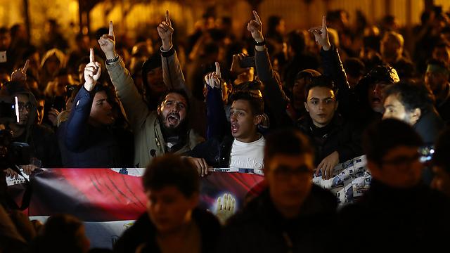 הפגנות באיסטנבול נגד החלטת טראמפ (צילום: EPA)