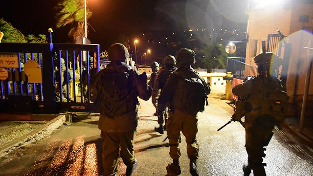 """פעילות כוחות הביטחון, הלילה (צילום: דובר צה""""ל)"""