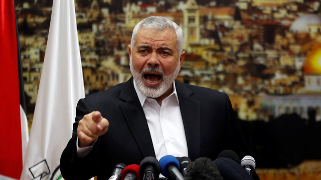 Hamas political bureau chief Ismail Haniyeh (Photo: Reuters)