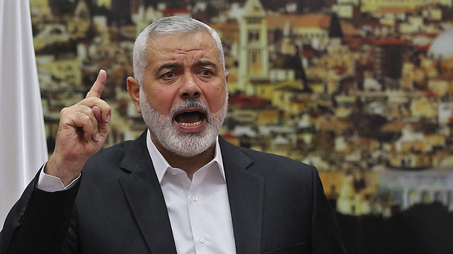 Hamas leader Haniyeh (Photo: Reuters)