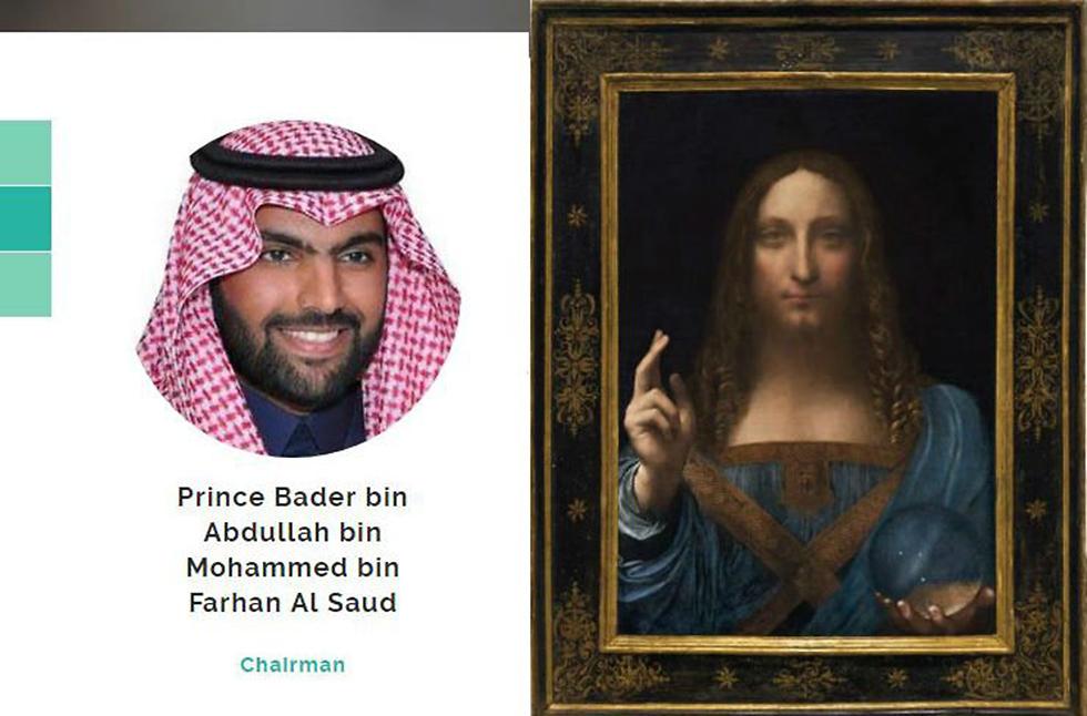 """הנסיך הסעודי באדר ויצירת האמנות שרכש תמורת 450 מיליון דולר """"מושיע העולם"""" ()"""