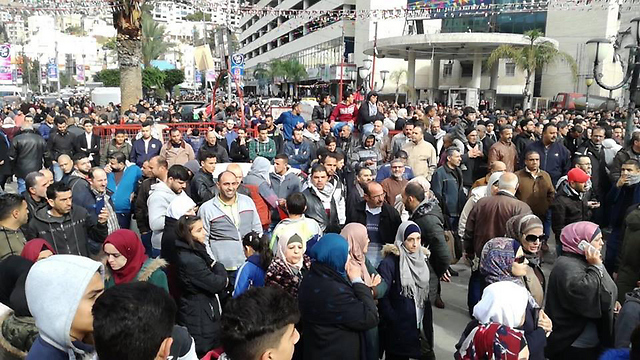 Protest in Nablus