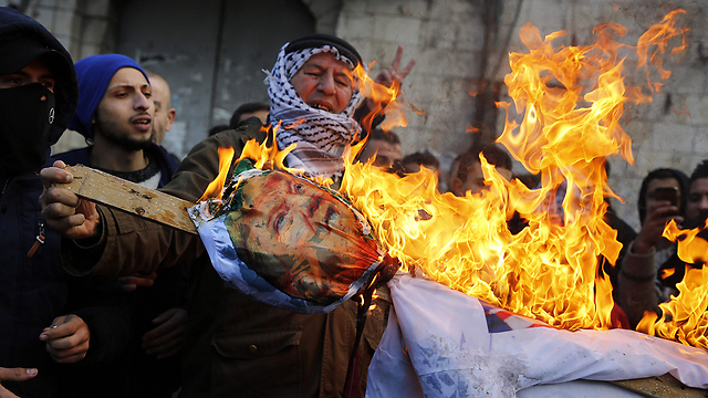 Tensions flared in the West Bank and Gaza following the speech (Photo: AFP)