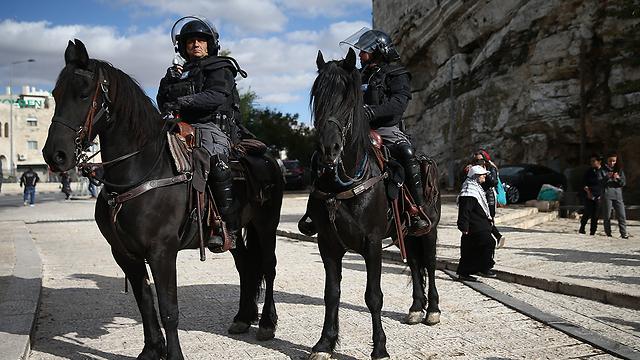 Полиция на улицах Иерусалима. Фото: Охад Цвайгенберг