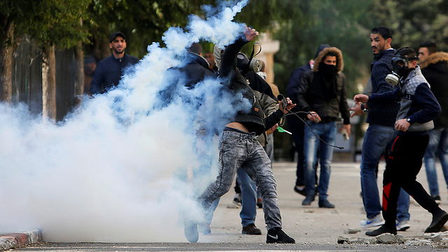עימותים בבית לחם (צילום: AFP) (צילום: AFP)