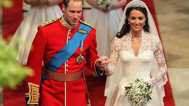 הנסיך וויליאם וקייט מידלטון בחתונתם (צילום: Getty Images) (צילום: Getty Images)