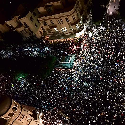 """ההפגנה ההמונית ברוטשילד בשבת שעברה. """"הסתכלתי על הקהל והתאפקתי לא לבכות"""""""