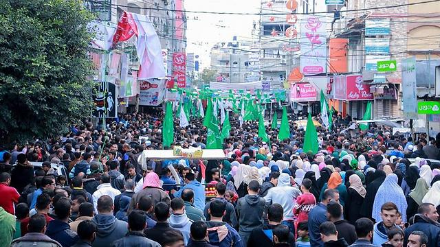 Thousands participated in a protest in Jabalia