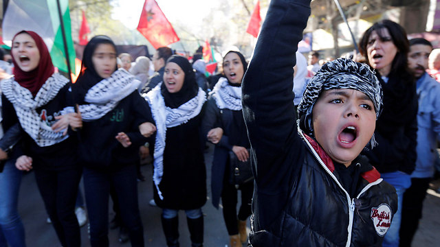 The only serious demonstration took place in Amman (Photo: Reuters)