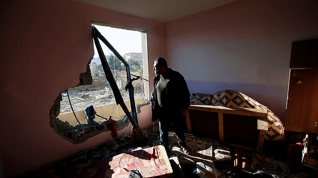 Gaza home following IDF bombing (Photo: Reuters)