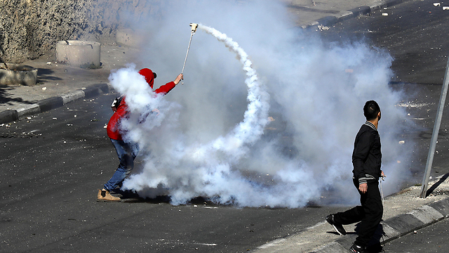 Protesters in Bethlehem (Photo: EPA)