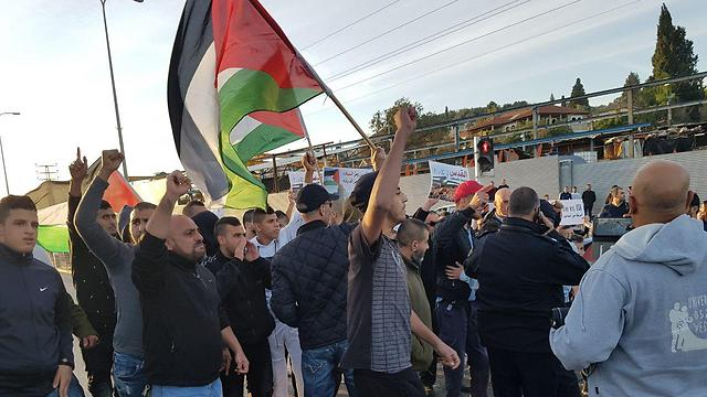 Wadi Ara protest, Saturday. Several dozen or hundred violent protestors shouldn't dictate the relations between Jews and Arabs in Israel