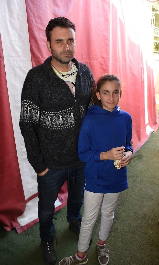 היוש. גיא לואל ובתו (צילום: רן בירן)