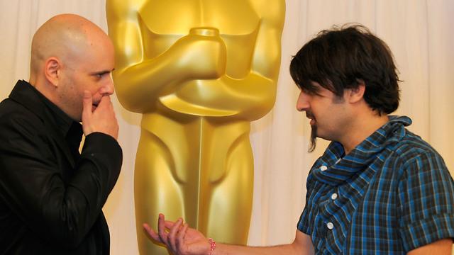 """סקנדר קופטי וירון שני באוסקר עם """"עג'מי"""" (צילום: gettyimages) (צילום: gettyimages)"""