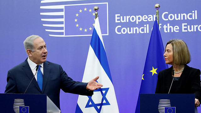Prime Minister Netanyahu and EU Foreign Policy Chief Mogherini  (Photo: Reuters)