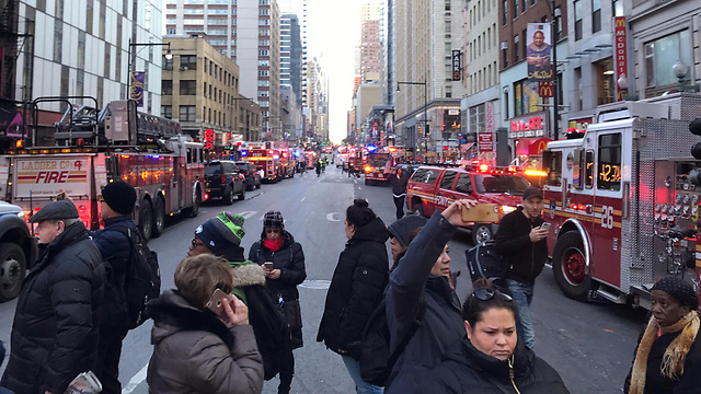Scene of the incident in NY (Photo: Reuters)