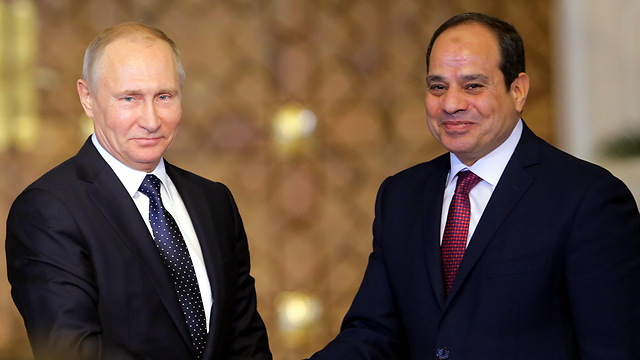 א-סיסי ופוטין בפגישה במצרים (צילום: EPA) (צילום: EPA)