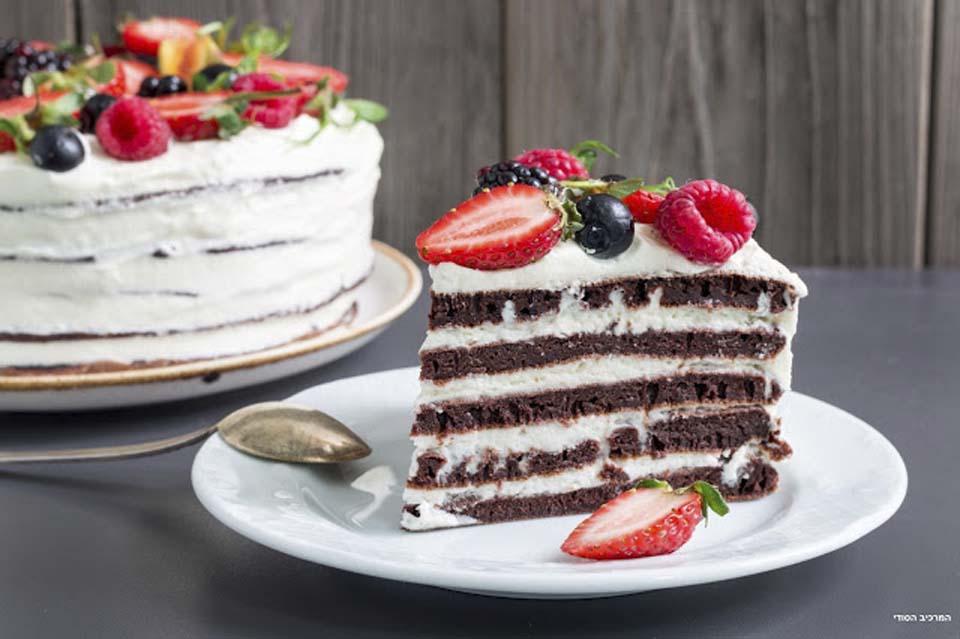 "Шоколадный торт ""Новогодний"". Фото: Ольга Тухшер"