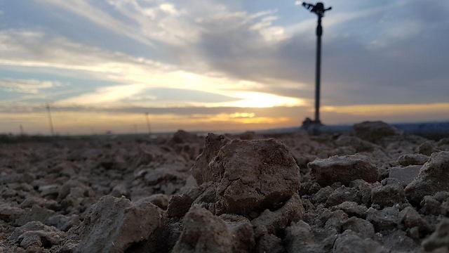 אדמה יבשה בשדות נגב  (צילום: רועי עידן)