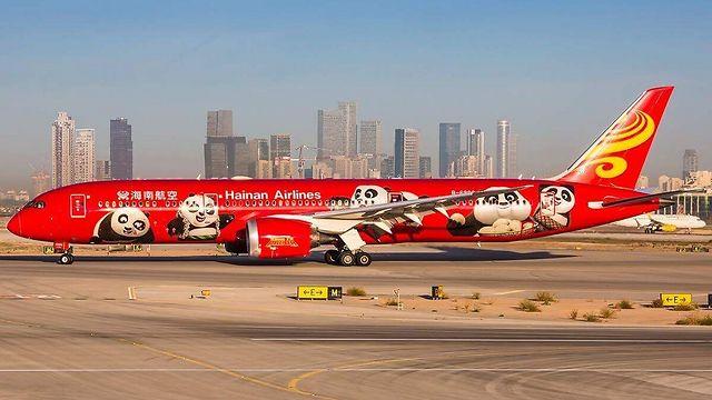 מטוס הפנדות של החברה כאן בישראל (צילום: יוחאי מוסי) (צילום: יוחאי מוסי)
