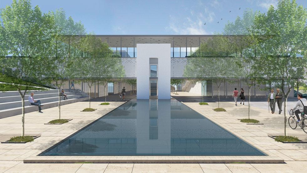 הנה הגן הפנימי שתכננו ''סטיו אדריכלים'', אחד משלושת המשרדים שהעפילו לגמר (באדיבות סטיו אדריכלים)