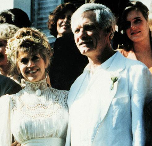 בחתונה עם טד טרנר, 1991 (צילום: Gettyimages)