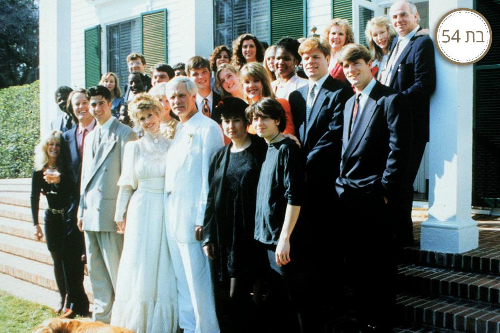 פונדה בחתונתה עם טד טרנר  (צילום: Gettyimages)