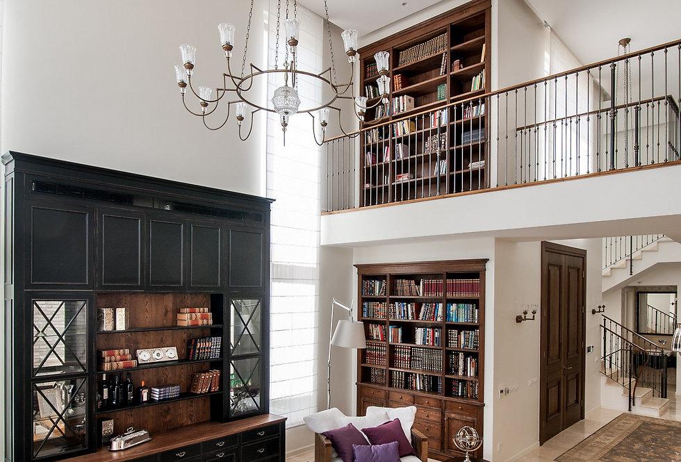 דגש על ספריה גדולה (עיצוב: שירלי דן) (צילום: גלעד רדט)