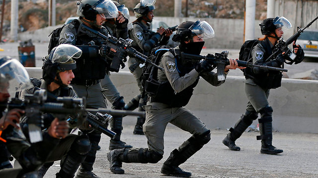 Border Police forces in Ramalla (Photo: AFP)