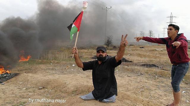 Ibrahim Abu Thuraya during the clashes
