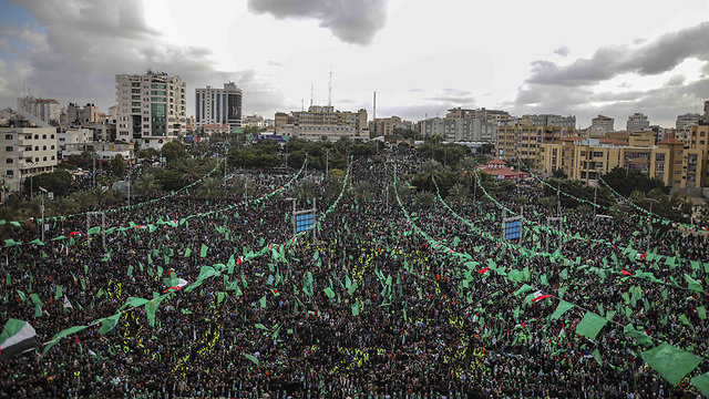 Hamas rally in Gaza (Photo: MCT)