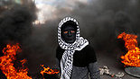 Palestinian protester in Nablus