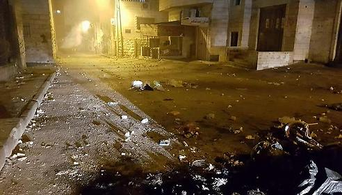 The aftermath of riots in Isawiya