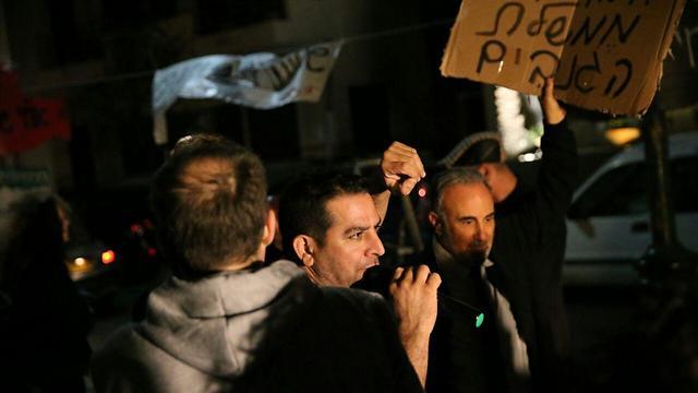 Protest organizer Meni Naftali (Photo: Motti Kimchi)