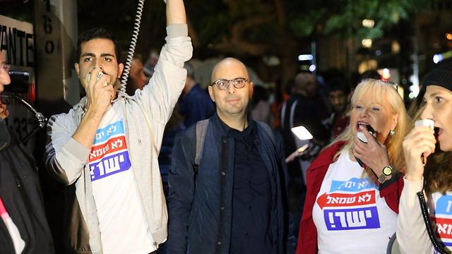 Protest organizer Eldad Yaniv (Photo: Motti Kimchi)
