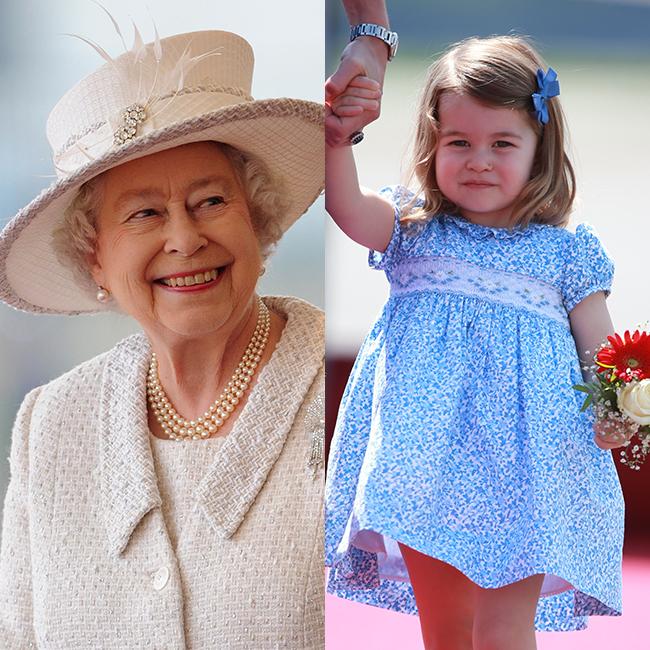 יש בזה משהו. הנסיכה שרלוט והמלכה אליזבת (Gettyimages)