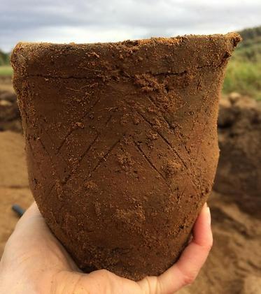 האגרטל העתיק (צילום: צוות החפירות באתר)