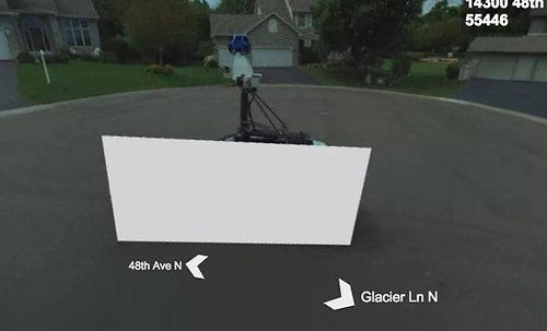 הרכב המוצנע כפי שמופיע באתר המפות - בינג (צילום מסך)