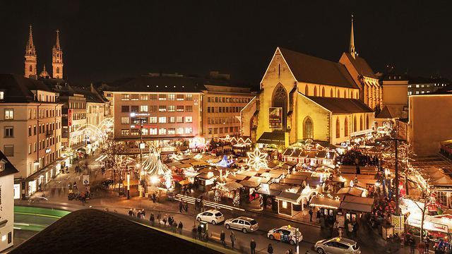 בזל בחורף, שוויץ (צילום: לשכת התיירות של בזל)